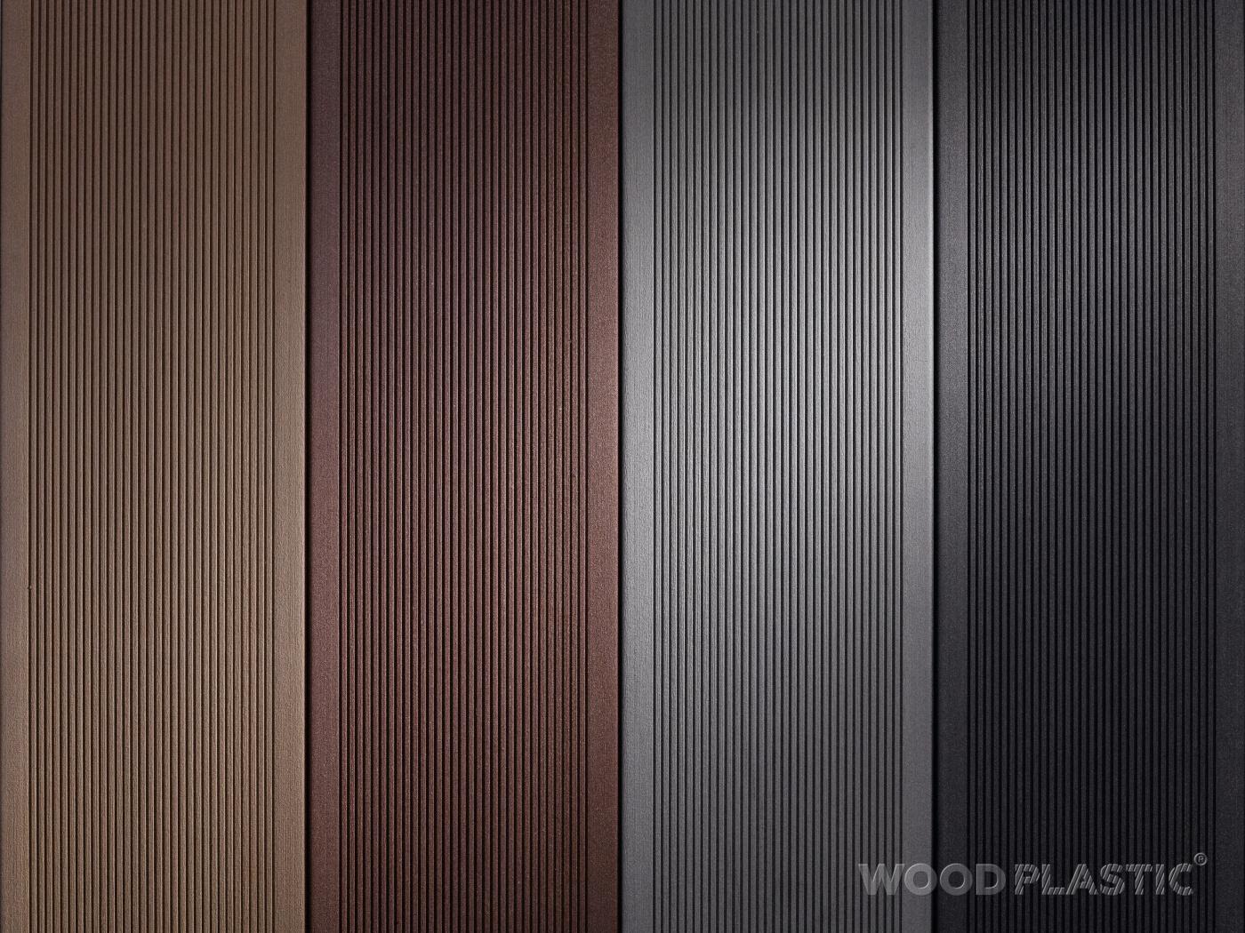 WoodPlastic drážkované - Světle hnědá